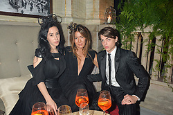 Left to right,  ADA ZANDITON, MIMI NISHIKAWA and SASCHA BAILEY at the Tatler Magazine's Kings & Queens party held at Savini at Criterion, Piccadilly, London on 1st June 2016.