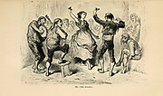 Bolero, [Dance] engraving on wood From The human race by Figuier, Louis, (1819-1894) Publication in 1872 Publisher: New York, Appleton