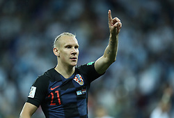 June 21, 2018 - Nizhny Novgorod, Russia - Group D Argentina v Croazia - FIFA World Cup Russia 2018.Domagoj Vida (Croatia) at Nizhny Novgorod Stadium, Russia on June 21, 2018. (Credit Image: © Matteo Ciambelli/NurPhoto via ZUMA Press)