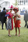Natalie Press and Melinda Barrett, Royal Ascot Race Meeting. Wednesday 21 June 2006. ONE TIME USE ONLY - DO NOT ARCHIVE  © Copyright Photograph by Dafydd Jones 66 Stockwell Park Rd. London SW9 0DA Tel 020 7733 0108 www.dafjones.com