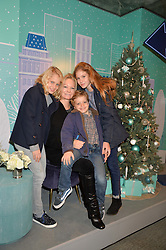 GENEVIEVE HOBERMAN and her children CELESTE, MONTY and JADE at the official opening of the 2014 Tiffany & Co.Christmas Shop on Bond Street, London on 16th November 2014.