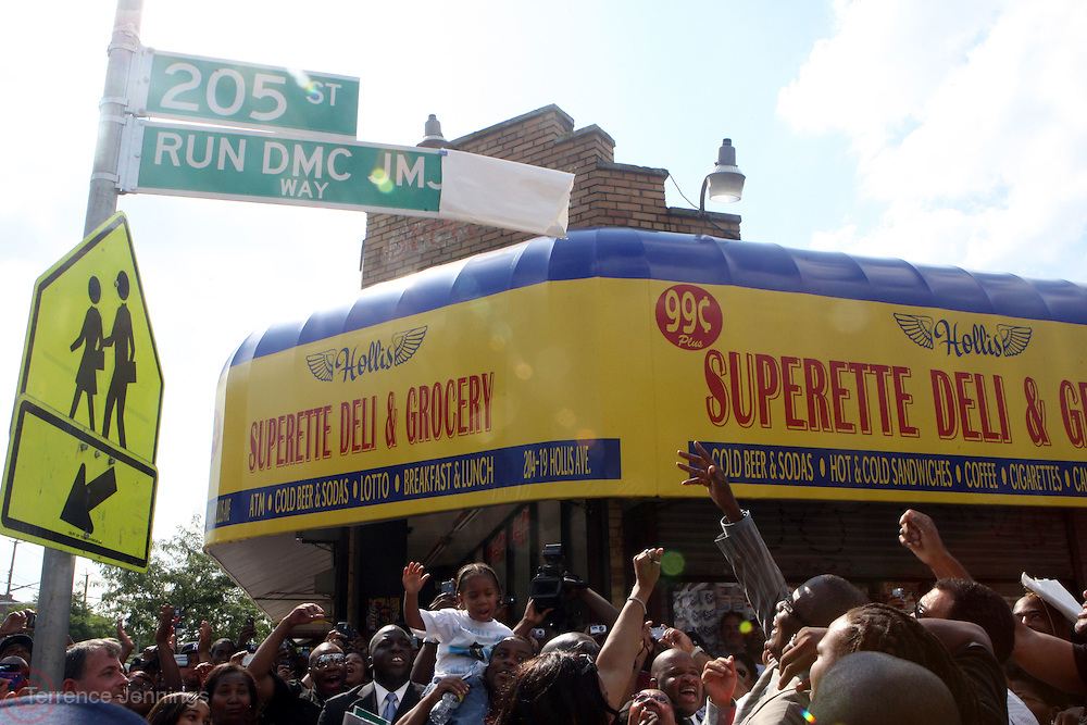 Atmosphere at 205th and Hollis for the official renaming of 205th Street to RUN-DMC JJ Way in Hollis Queens, NY on August 30, 2009..A project of Councilman Leroy Comrie, 205th street in Hollis, Queens was named after the famed Icon Rap Group, RUN-DMC, with special comments made by various community and civic leaders. This renaming marks the first time in the country that a street  is named after a Hiphop Group.