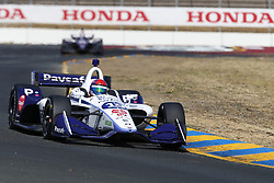 September 14, 2018 - Sonoma, California, United Stated - PIETRO FITTIPALDI (19) of Brazil takes to the track to practice for the Indycar Grand Prix of Sonoma at Sonoma Raceway in Sonoma, California. (Credit Image: © Justin R. Noe Asp Inc/ASP via ZUMA Wire)