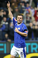 Photo: Pete Lorence.<br /> Leicester City v Coventry City. Coca Cola Championship. 17/02/2007.<br /> Geoff Horsfield celebrates scoring the third goal of the match.
