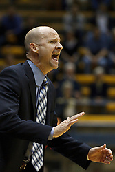 March 16, 2011; Berkeley, CA, USA;  Mississippi Rebels head coach Andy Kennedy on the sidelines against the California Golden Bears during the first half of the first round of the National Invitation Tournament at Haas Pavilion.  California defeated Mississippi 77-74.