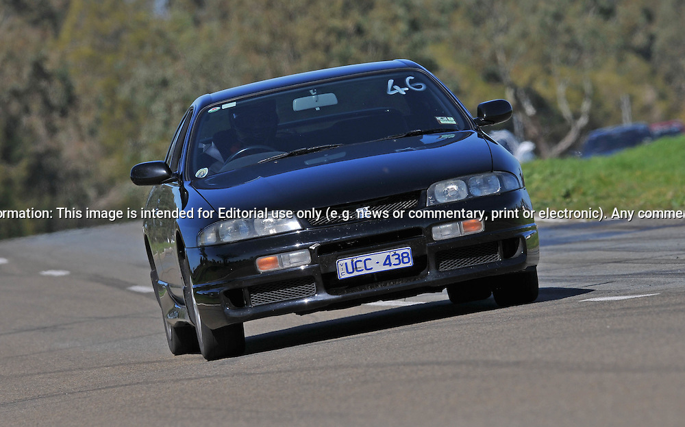 Niroj Douglas..Nissan Skyline R33 GTST.SAU Deca Motorkhana sponsored by Micolour.Shepparton, Victoria .15th of August 2009.(C) Joel Strickland Photographics.Use information: This image is intended for Editorial use only (e.g. news or commentary, print or electronic). Any commercial or promotional use requires additional clearance.