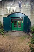 Exit doors German Underground Military hospital, Guernsey, Channel Islands, UK