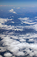 Chilean Volcanoes Lanin top and Villarrica bottom