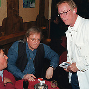 CD uitreiking Johan Hoogeboom, Jack Spijkerman in gesprek met Eddy Ouwens