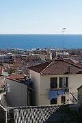 Blick auf Stadt und Meer, Sanremo, Riviera, Ligurien, Italien | view on town and sea, Sanremo, Riviera, Liguria, Italy