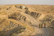 "The Mount Batiwa frontline held by Peshmerga fighters in the war with so-called ""Islamic State"" or ""Daesh.""  Iraqi Kurdistan."