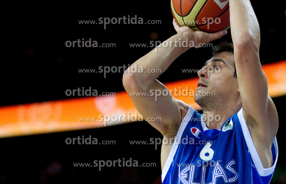 Nikolaos Zisis of Greece during basketball game between National basketball teams of France and Greece at of FIBA Europe Eurobasket Lithuania 2011, on September 15, 2011, in Arena Zalgirio, Kaunas, Lithuania. France defeated Greece 64-56.  (Photo by Vid Ponikvar / Sportida)