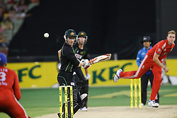 © Licensed to London News Pictures. 26/12/2013. George Bailey batting during the 2nd T20 international between Australia Vs England at the Melbourne Cricket Ground, Victoria, Australia. Photo credit : Asanka Brendon Ratnayake/LNP