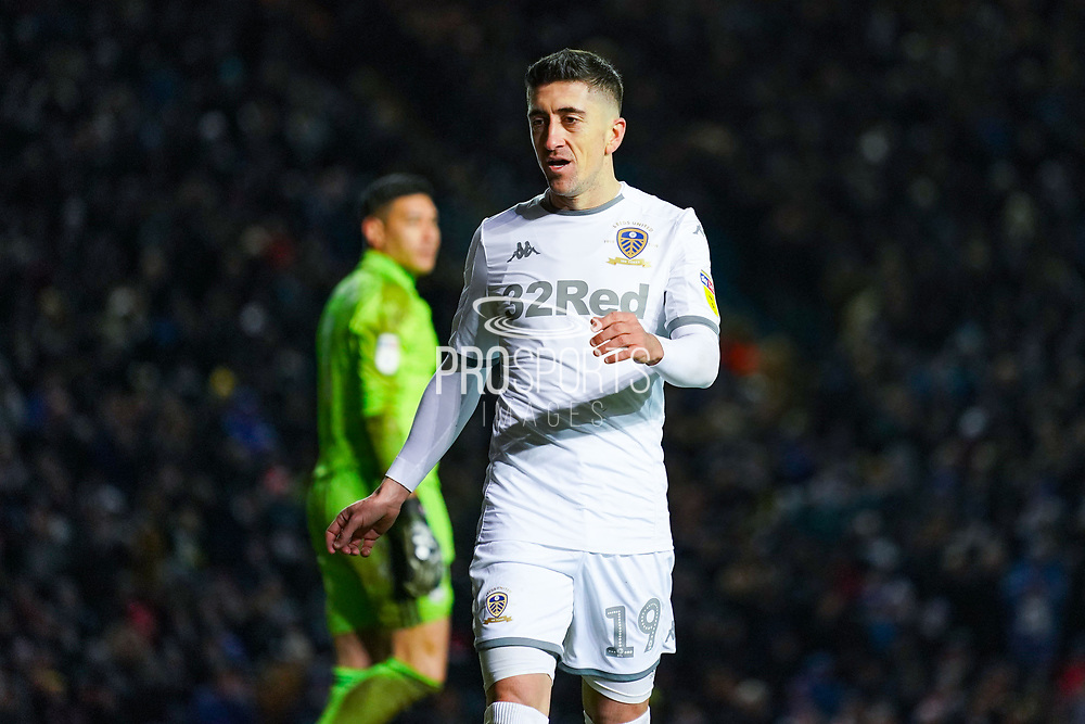 Leeds United midfielder Pablo Hernandez (19) during the EFL Sky Bet Championship match between Leeds United and Cardiff City at Elland Road, Leeds, England on 14 December 2019.