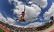Mar 24, 2018; Los Angeles, CA, USA; Courtney Corrin of Southern California places second in the women's long jump at 19-11 (6.07m) during the Power 5 Trailblazer challenge at Cromwell Field.