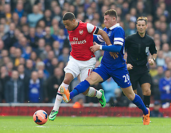 08.03.2014, Emirates Stadium, London, ENG, FA Cup, FC Arsenal vs FC Everton, Viertel Finale, im Bild Everton's Ross Barkley and Arsenal's Alex Oxlade-Chamberlain // during the English FA Cup quater final match between Arsenal FC and Everton FC at the Emirates Stadium in London, Great Britain on 2014/03/08. EXPA Pictures © 2014, PhotoCredit: EXPA/ Propagandaphoto/ David Rawcliffe<br /> <br /> *****ATTENTION - OUT of ENG, GBR*****