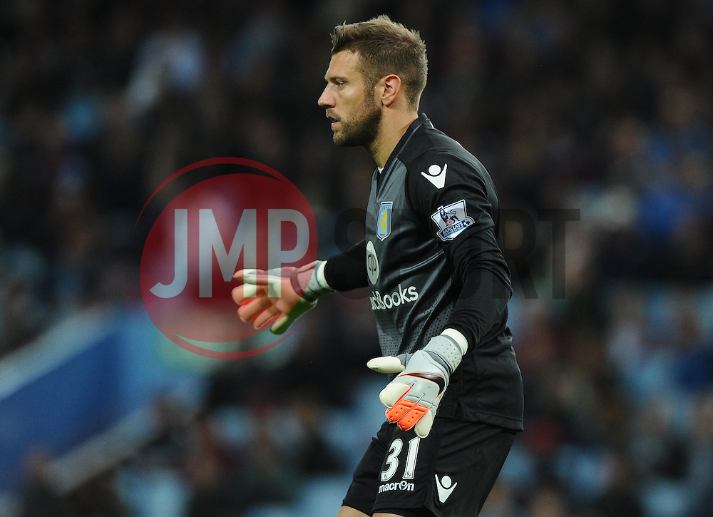 Mark Bunn of Aston Villa  - Mandatory byline: Joe Meredith/JMP - 07966386802 - 25/08/2015 - FOOTBALL - Villa Park -Birmingham,England - Aston Villa v Notts County - Capital One Cup - Second Round