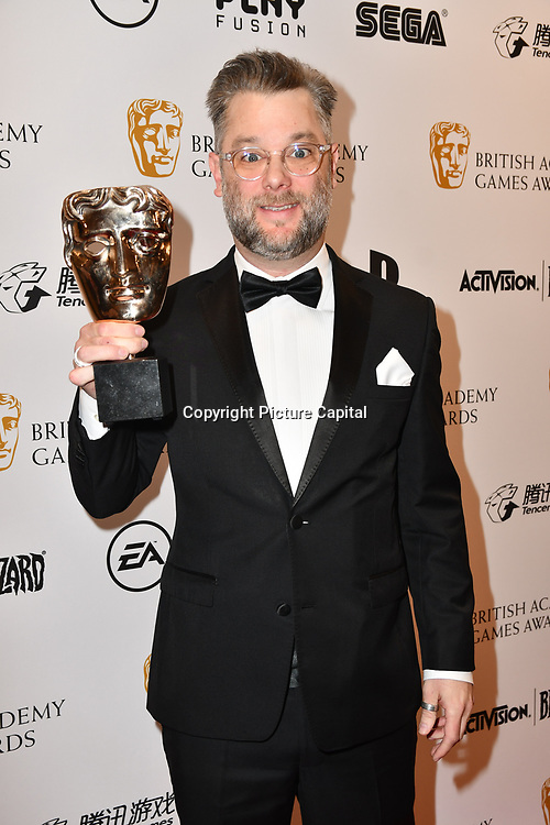 Winner: God of War by Cory Barlog at the British Academy (BAFTA) Games Awards at Queen Elizabeth Hall, Southbank Centre  on 4 March 2019, London, UK.
