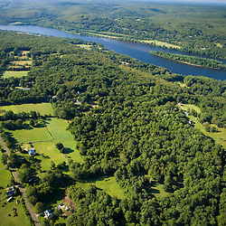 Farms near the Connecticut River in East Haddam, Connecticut.