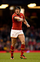 Wales' Sam Davies makes his debut and comes on as a replacement during the Autumn International match at the Principality Stadium, Cardiff.