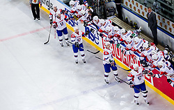 Slovenia scores during ice-hockey match between Slovenia and Hungary at IIHF World Championship DIV. I Group A Slovenia 2012, on April 18, 2012 in Arena Stozice, Ljubljana, Slovenia.  (Photo by Vid Ponikvar / Sportida.com)