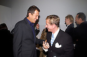 Mario Testino and Jasper Conran at Manolo Blahnik exhibition. Design Museum. 30 Dafydd Jones 66 Stockwell Park Rd. London SW9 0DA Tel 020 7733 0108 www.dafjones.com