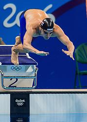 09-08-2016 BRA: Olympic Games day 4, Rio de Janeiro<br /> Met 48,51 plaatst Sebastiaan Verschuren zich als twaalfde voor de halve finales op de 100 meter vrije slag.<br /> Photo by Ronald Hoogendoorn / Sportida