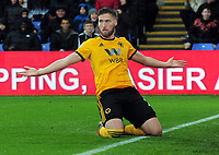 Football - 2018 / 2019 Premier League - Crystal Palace vs. Wolverhampton Wanderers  g <br /> <br /> Matt Doherty of Wolves celebrates scoring his goal, at Selhurst Park.<br /> <br /> COLORSPORT/ANDREW COWIE