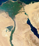 This image of the northern portion of the Nile River was captured by MISR's nadir camera on January 30, 2001