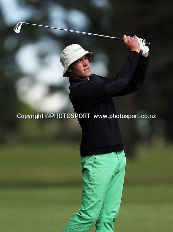 Oscar Cadenhead. The Charles Tour - John Jones Steel 2012 Harewood Open. Harewood Golf Course, Christchurch, Friday 19 October 2012. Photo : Joseph Johnson/photosport.co.nz