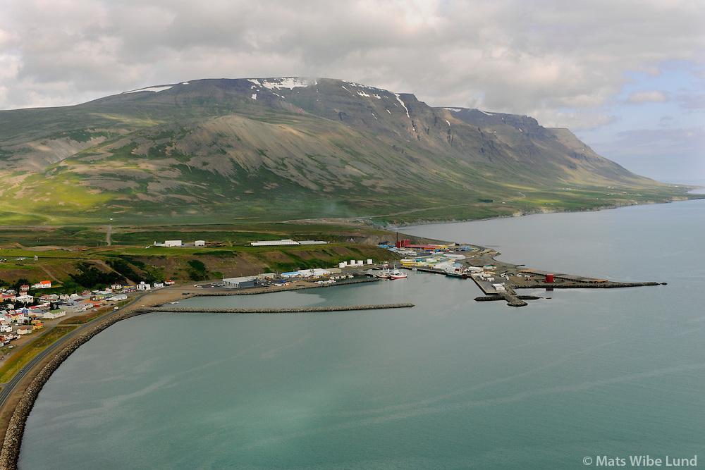 Sauðárkrókur séð til norðvesturs, Sveitarfelagið Skagafjarðar / Saudarkrokur viewing northwest, Sveitarfelagid Skagafjardar.