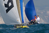 Alister Richardson and Dan Johnson heading for victory during the 2008 POW Race at Weymouth
