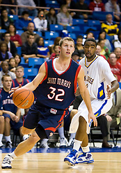 November 30, 2009; San Jose, CA, USA;  San Jose State Spartans center Joe Henson (32) during the second half against the San Jose State Spartans at the Event Center Arena.  Saint Mary's defeated San Jose State 78-71.