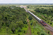 The Ghan.  The Ghan train near Katherine, Northern Territory, Australia.