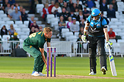Jake Ball fields during the Natwest T20 Blast North Group match between Nottinghamshire County Cricket Club and Worcestershire County Cricket Club at Trent Bridge, West Bridgford, United Kingdom on 26 July 2017. Photo by Simon Trafford.