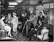 A commercial film being filmed at Fitzpatrick's Shoe Shop, Grafton Street Dublin 2. Mr C. Joyce