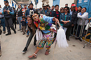 """Feast of """"Mamacha del Carmen"""" of Paucartambo. The real party starts with Maq'ta, the craziest masked group, not staged any choreography but undertakes to confusion among the people"""