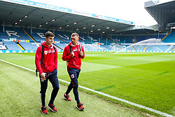 Liam Walsh and Jack Hunt of Bristol City arrive at Elland Road for the Sky Bet Championship fixture against Leeds United - Mandatory by-line: Robbie Stephenson/JMP - 24/11/2018 - FOOTBALL - Elland Road - Leeds, England - Leeds United v Bristol City - Sky Bet Championship