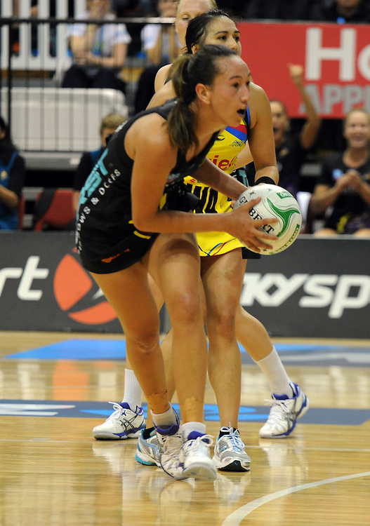 Magics' Elias Shadrock against the Pulse in the ANZ Netball Champions at TSB Stadium, Wellington, New Zealand, Sunday, April 28, 2013. Credit:SNPA / Ross Setford