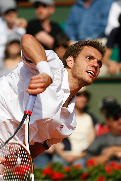 Roland Garros. Paris, France. June 2nd 2007..3rd Round..Paul-Henri MATHIEU against Igor ANDREEV.