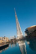 Burj Al Kalifa, world's tallest building; Dubai, United Arab Emirates.