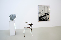 Sculpture Lobby Piece for a Museum by Franz West and Photo Bedroom by Sigmar Polke at Abteiberg in Mönchengladbach Germany