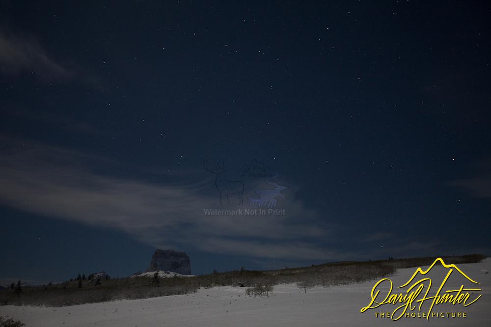 Chief Mountain under the stars, Babb Montana