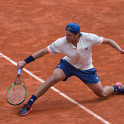 Lucas Pouille of France during Day 5 for the French Open 2018 on May 31, 2018 in Paris, France. (Photo by Baptiste Fernandez/Icon Sport)