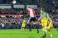 ROTTERDAM - Feyenoord - ADO Den Haag , Voetbal , KNVB Beker , Seizoen 2016/2017 , De Kuip , 14-12-2016 , Feyenoord speler Nicolai Jorgensen scoort de 1-0