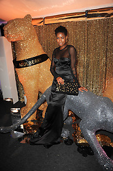TOLULA ADEYEMI at a party to celebrate the Mulberry Autumn Winter 2010 collection held at The Orangery, Kensington Palace, London on 21st February 2010.