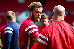 Ed Holmes of Bristol Bears looks on during the Bristol Bears Team Run ahead of the Sale Sharks Game - Rogan/JMP - 02/05/2019 - RUGBY UNION - Ashton Gate Stadium - Bristol, England - Bristol Bears v Sale Sharks - Gallagher Premiership Rugby.