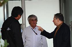 23.10.2010, Korea International Circuit, Yeongam, KOR, F1 Grandprix of Korea, im Bild Bernie Ecclestone (GBR) - Yung Cho Chung (KOR), Korea Auto Valley Operations (KAVO) CEO - Jean Todt (FRA), FIA President, EXPA Pictures © 2010, PhotoCredit: EXPA/ InsideFoto/ Hasan Bratic *** ATTENTION *** FOR AUSTRIA AND SLOVENIA USE ONLY!