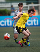 HKFC Citibank Soccer sevens Aston Villa vs Wellington Phoenix. Harry McKirdy of Aston Villa with the ball