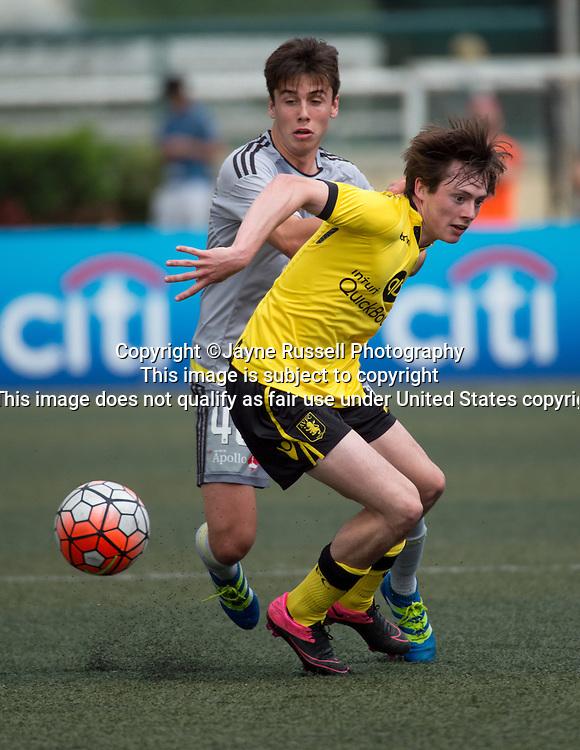 HKFC Citibank Soccer sevens Aston Villa vs Wellington Phoenix. Harry McKirdy of Aston Villa with the ball